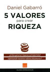 Libro 5 VALORES PARA CREAR RIQUEZA