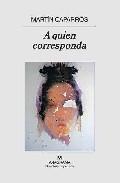 Libro A QUIEN CORRESPONDA