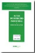 Libro ACTAS DE DERECHO INDUSTRIAL Y DERECHO DE AUTOR