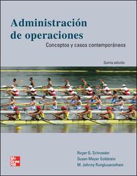 Libro ADMINISTRACION DE OPERACIONES: CONCEPTOS Y CASOS CONTEMPORANEOS