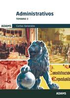 Libro ADMINISTRATIVOS DE LAS CORTES GENERALES: TEMARIO 3