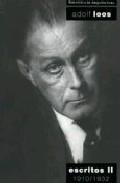 Libro ADOLF LOOS: ESCRITOS: 1910-1932