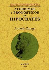 Libro AFORISMOS Y PRONOSTICOS DE HIPOCRATES