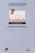 Libro ANALISIS DE VARIANZA: INTRODUCCION CONCEPTUAL Y DISEÑOS BASICOS