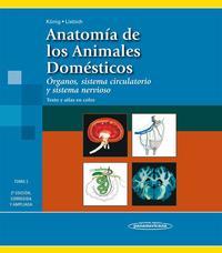 Libro ANATOMIA DE LOS ANIMALES DOMESTICOS: ORGANOS, SISTEMA CI RCULATORIO Y SISTEMA NERVIOSO