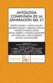 Libro ANTOLOGIA COMENTADA DE LA GENERACION DEL 27