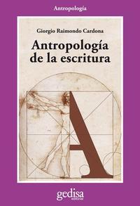 Libro ANTROPOLOGIA DE LA ESCRITURA