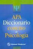Libro APA DICCIONARIO CONCISO DE PSICOLOGIA