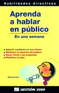 Libro APRENDA A HABLAR EN PUBLICO