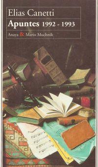 Libro APUNTES, 1992-1993