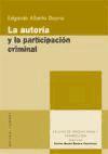 Libro AUTORIA Y PARTICIPACION CRIMINAL