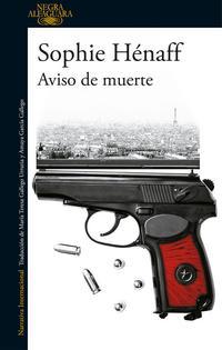 Libro AVISO DE MUERTE
