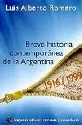 Libro BREVE HISTORIA CONTEMPORANEA DE LA ARGENTINA