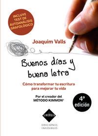 Libro BUENOS DIAS Y BUENA LETRA