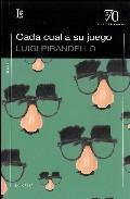 Libro CADA CUAL A SU JUEGO