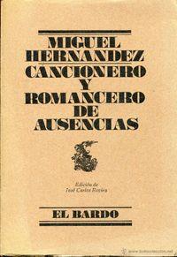 Libro CANCIONERO Y ROMANCERO DE AUSENCIAS