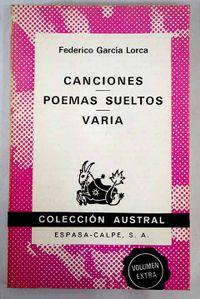 Libro CANCIONES. POEMAS SUELTOS. VARIA