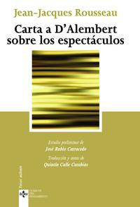 Libro CARTA A D ALEMBERT SOBRE LOS ESPECTACULOS