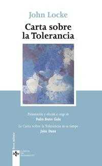 Libro CARTA SOBRE LA TOLERANCIA