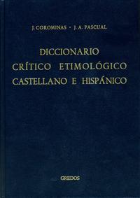 Libro CE-F, INDICES: DICCIONARIO CRITICO ETIMOLOGICO CASTELLANO E HISPA NICO