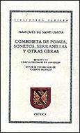 Libro COMEDIETA DE PONZA, SONETOS, SERRANILLAS Y OTRAS OBRAS
