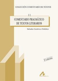 Libro COMENTARIO PRAGMATICO DE TEXTOS LITERARIOS