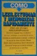 Libro COMO LEER, ESTUDIAR Y MEMORIZAR RAPIDAMENTE