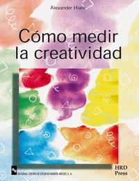 Libro COMO MEDIR LA CREATIVIDAD