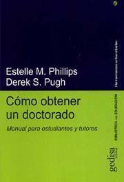 Libro COMO OBTENER UN DOCTORADO: MANUAL PARA ESTUDIANTES Y TUTORES
