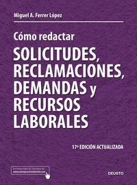 Libro COMO REDACTAR SOLICITUDES, RECLAMACIONES, DEMANDAS Y RECURSOS LAB ORALES