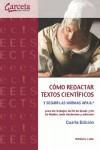 Libro COMO REDACTAR TEXTOS CIENTIFICOS