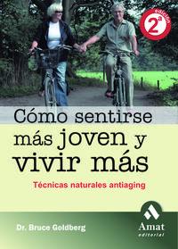 Libro COMO SENTIRSE MAS JOVEN Y VIVIR MAS