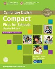 Libro COMPACT FIRST FOR SCHOOLS SECOND EDITION STUDENT S BOOK WITH ANSWERS WITH CD-ROM