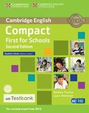 Libro COMPACT FIRST FOR SCHOOLSSTUDENT S BOOK WITHOUT ANSWERS WITH CD-ROM & TESTBANK