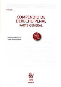 Libro COMPENDIO DE DERECHO PENAL PARTE GENERAL 6ª ED