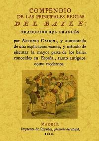 Libro COMPENDIO DE LAS PRINCIPALES REGLAS DEL BAILE
