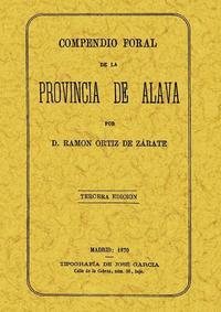 Libro COMPENDIO FORAL DE LA PROVINCIA DE ALAVA