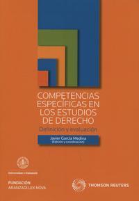 Libro COMPETENCIAS ESPECIFICAS EN LOS ESTUDIOS DE DERECHO