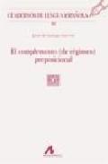 Libro COMPLEMENTOPREPOSICIONAL