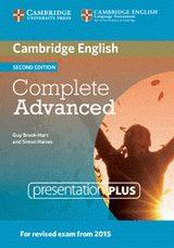 Libro COMPLETE ADVANCED 2ND EDITION RESENTATION PLUS DVD ROM