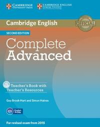 Libro COMPLETE ADVANCED 2ND EDITION TEACHER S BOOK WITH TEACHER S RESOURCES CD-ROM