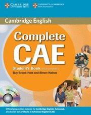Libro COMPLETE CAE ST KEY +CD