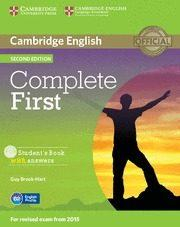 Libro COMPLETE FIRST  STUDENT S BOOK WITH ANSWERS WITH CD-ROM 2ND EDITION  ZONA PORTUGAL