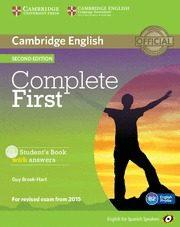 Libro COMPLETE FIRST CERTIFICATE FOR SPANISH SPEAKERS STUDENT S BOOK WITH ANSWERS WITH CD-ROM 2ND EDITION