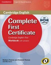 Libro COMPLETE FIRST CERTIFICATE FOR SPANISH SPEAKERS WORKBOOK WITH ANS WERS WITH AUDIO CD
