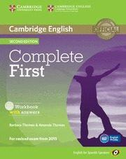 Libro COMPLETE FIRST CERTIFICATE FOR SPANISH SPEAKERS WORKBOOK WITH ANSWERS WITH AUDIO CD 2ND EDITION