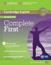 Libro COMPLETE FIRST CERTIFICATE FOR SPANISH SPEAKERS WORKBOOK WITH AUDIO CD 2ND EDITION