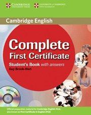 Libro COMPLETE FIRST CERTIFICATE STUDENT'S BOOK WITH ANSWERS WITH CD-ROM