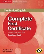 Libro COMPLETE FIRST CERTIFICATE. TEACHER´S BOOK