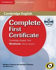 Libro COMPLETE FIRST CERTIFICATE: WORKBOOK WITH AUDIO CD